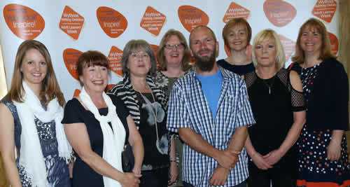 The ceredigion county council team at the inspire awards ceremony